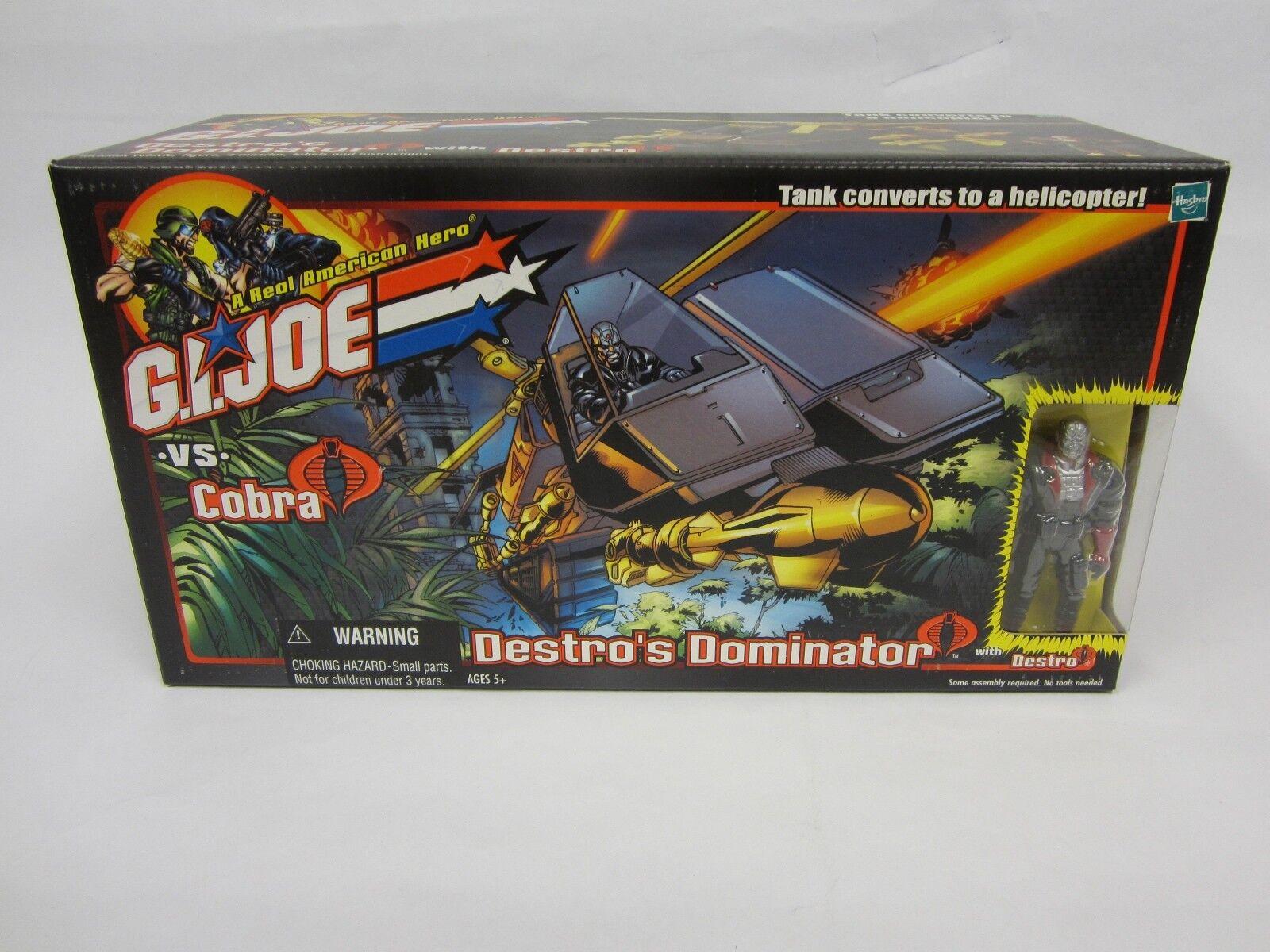 2001 HASBRO G.I. JOE VS COBRA DESTRO'S DOMINATOR HELICOPTER TANK MISB W  DESTRO