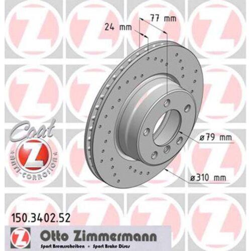 Sport-Bremsscheiben BMW E60+Touring 520-525 vorne Zimmermann