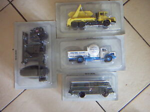 Lot De 4 Camions Berliet - Collection Presse Hachette Au 1/43ème