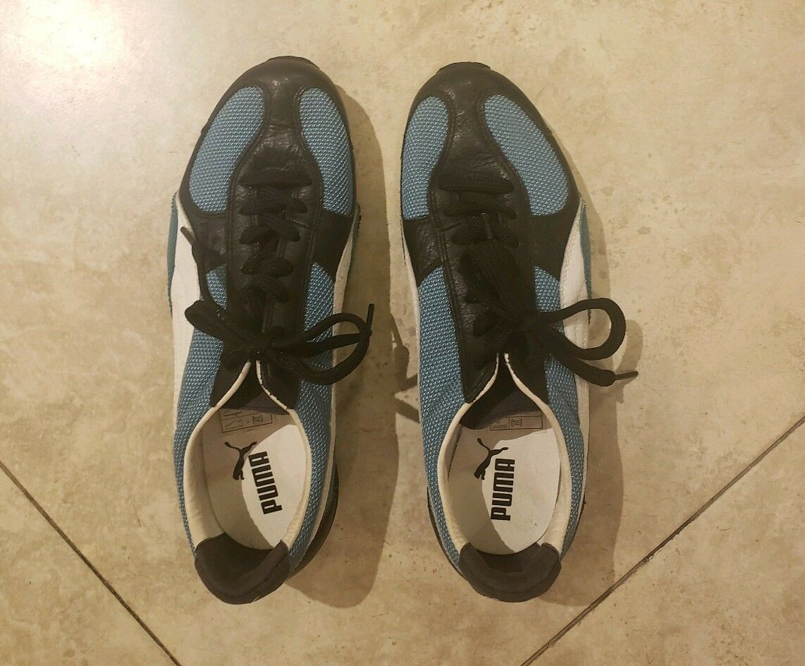 Puma mens driving shoes/sneakers blue/black/white mens size US 7
