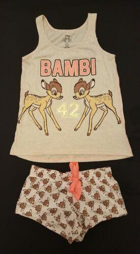 PRIMARK Ladies DISNEY BAMBI Cami Vest T Shirt Shorts Pyjama Set PJ/'S UK Pyjamas