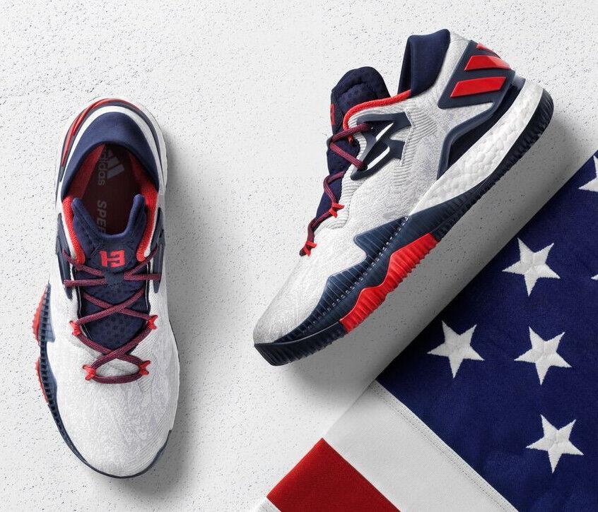 Adidas Crazylight Boost Low 2018 Liberties James Harden Basketball Shoes B49755