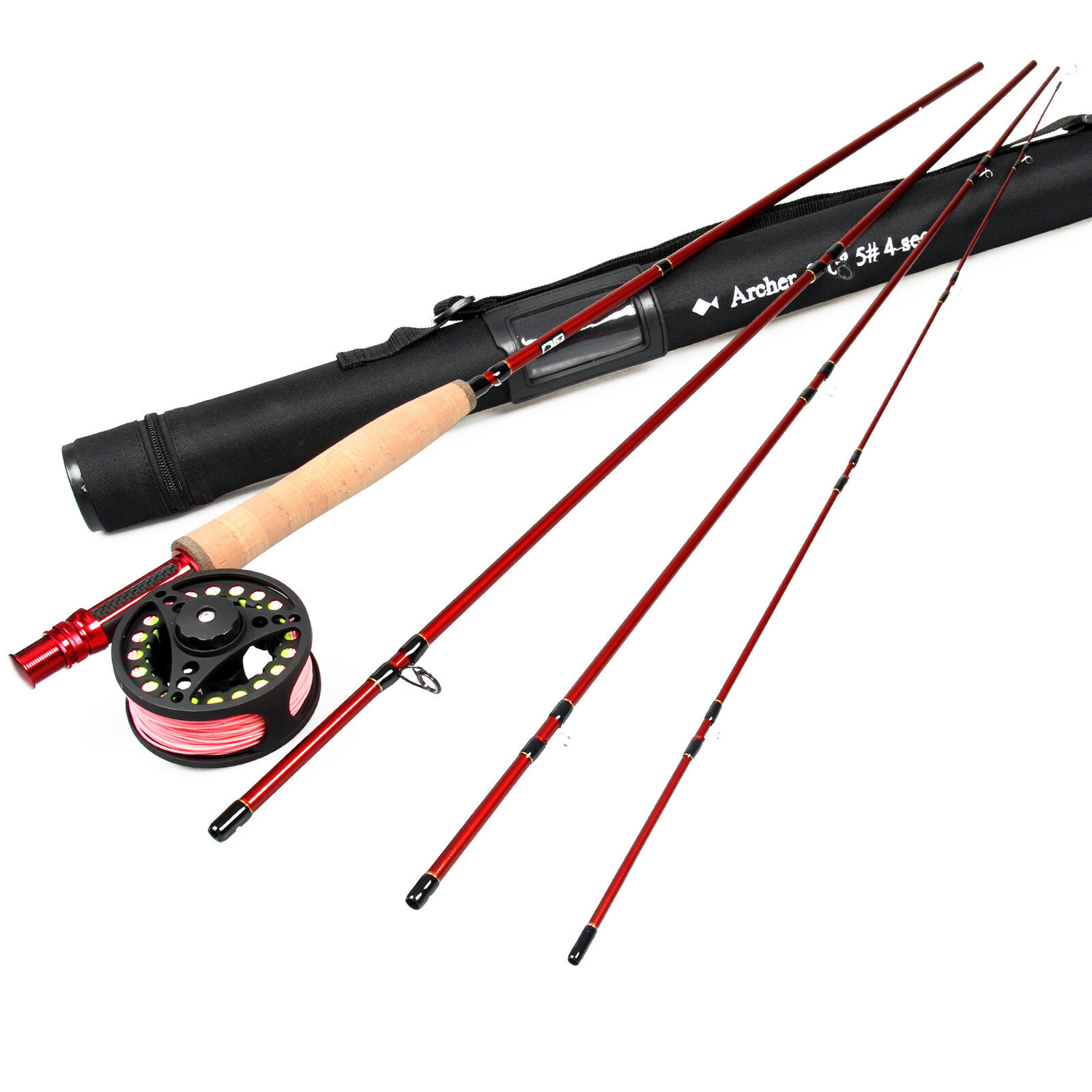 3458WT Fly Fishing Rod Combo in fibra di carbonio Fly Fishing Rod & Fly Mulinello & Fly Line