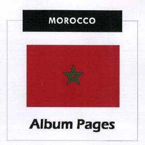 Morocco - CD-Rom Stamp Album 1956 - 2018 Album Pages  Illustrated uptill 1970
