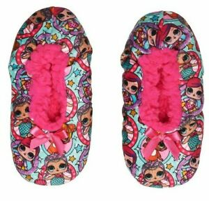 5c26a5974 LOL Surprise Pink Fuzzy Babba Slippers Size: S/M - ( Fits Shoe Size ...