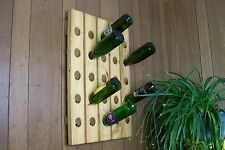 Wine Riddling Rack Wood Winerack Handcrafted Wall Hanging