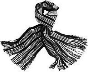Clothes, Shoes & Accessories Gut Ausgebildete Mens Ladies Black White Striped Knitted Scarf