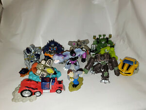 Transformers-Robot-Heroes-Figure-Lot-of-Optimus-Megatron-Bumblebee-Megatron