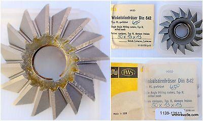 Winkelstirnfräser DIN 842 - Typ H - 45°-rechtsschneidend Ø50js16x13js14xØ13H7