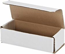50 Of 6 X 25 X 175 Small White Cardboard Carton Mailer Shipping Box Boxes