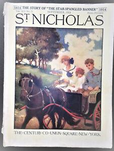 St. Nicholas Magazine September 1914 Illustrated. Story of Star Spangled Banner
