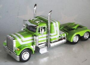 GREEN PETERBILT 379 SMALL BUNK DAY CAB 1/64 DCP DIECAST 33555