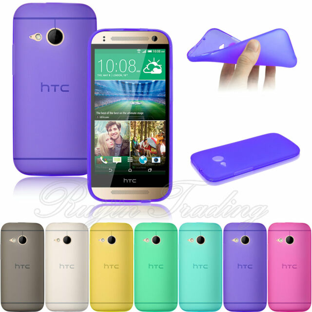 For HTC One Mini 2 (M8 Mini) 2014 Gel Rubber Skin Soft Silicone Phone Case Cover