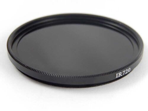 1x Camera infrared filter black 720nm 72mm Ø IR720