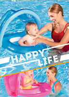 Kid Swimming Ring Swimwear With Sunshade Baby Inflatable Floats Seat
