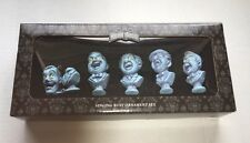 Disney Park Haunted Mansion Singing Busts Ornament Set of 5 NEW Glow In The Dark