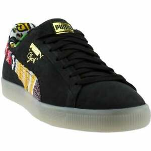 Puma-Coogi-Clyde-Formstrip-Lace-Up-Sneakers-Casual-Sneakers-Black-Mens-Size