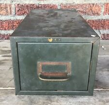 Vintage COLE Industrial Gray Metal Single Drawer File Cabinet Filing Storage