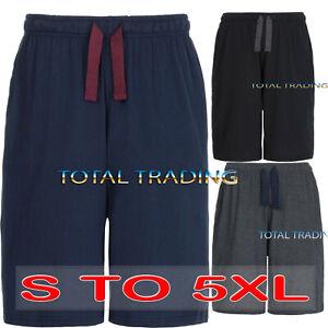 Mens Jersey soft Sleep Night Wear Pyjamas PJ Bottoms Lounge Shorts s m l xxxxl