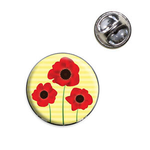 Red poppies flower lapel hat tie pin tack ebay image is loading red poppies flower lapel hat tie pin tack mightylinksfo