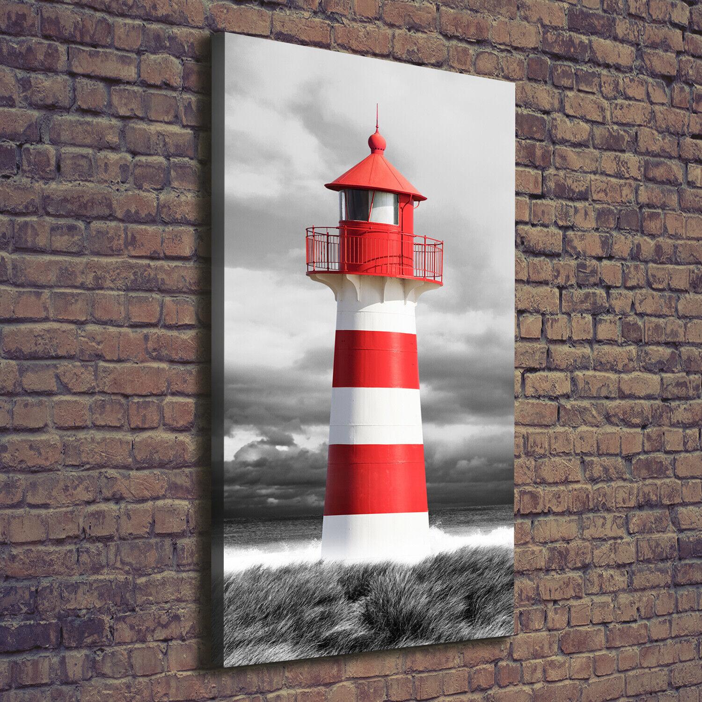 Leinwand-Bild Kunstdruck Hochformat 70x140 Bilder Leuchtturm