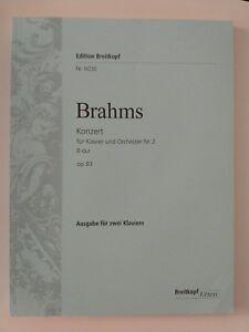 Abverkauf-Noten-Brahms-Konzert-1-B-Dur-OP83-Klavier
