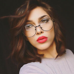 Round-Black-Eyeglasses-Clear-Lens-Vintage-Fashion-Hippie-Lennon-Style-Oversized