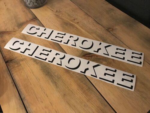 Pair of Jeep Cherokee Shadow Hood decals stickers