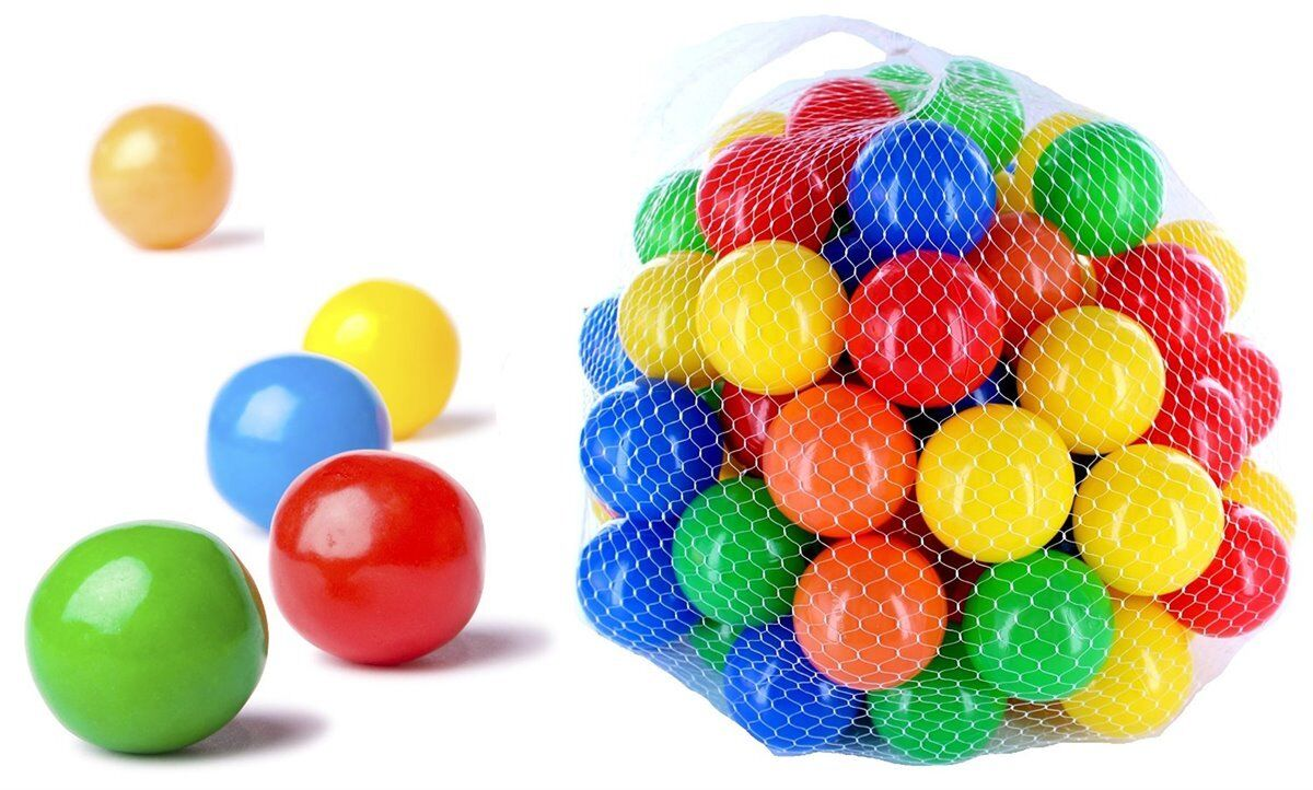 9000 Bälle Bällebad gemischt 55mm mix bunt bunte Farben Baby Spielbälle Kugelbad
