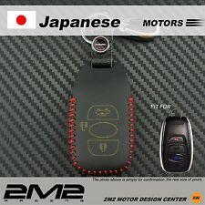 Leather Key fob Holder Case Chain Cover FIT For SUBARU Legacy Outback Forester