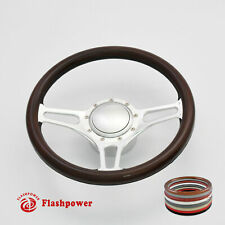 14 Billet Aluminum 9 Hole Steering Wheel Kit With Horn Button Amp Adapter Fits 1955 Pontiac