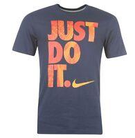 Nike Just Do It Herren Shirt T-Shirt Blau Orange Größe S, M, L oder XL Neu