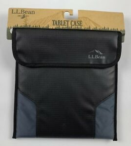 LL-Bean-Excursion-II-Tablet-eReader-iPad-Case-Black-Rip-Stop-Fabric