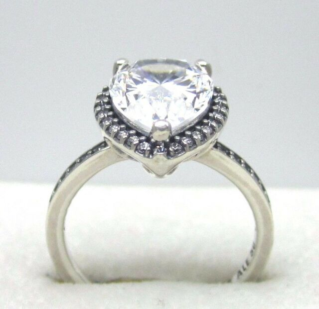 a30478ffb Authentic Pandora #196251CZ-50 Radiant Teardrop Ring with Clear CZ Size 5