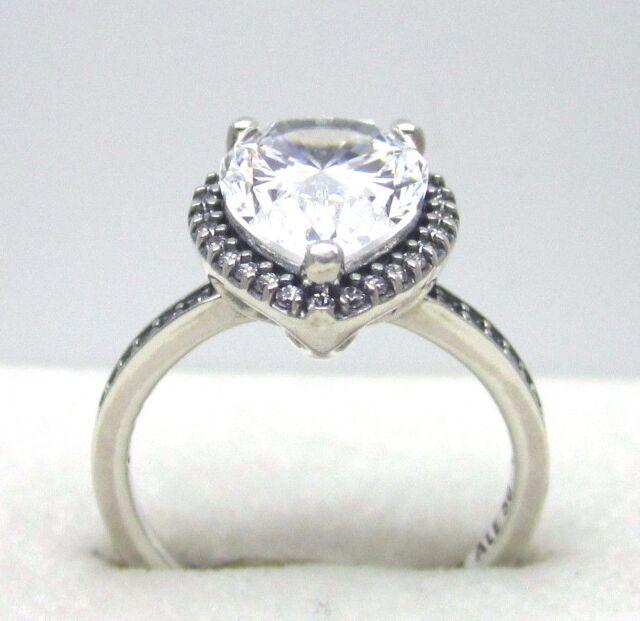 ec854de65 Authentic Pandora #196251CZ-50 Radiant Teardrop Ring with Clear CZ Size 5