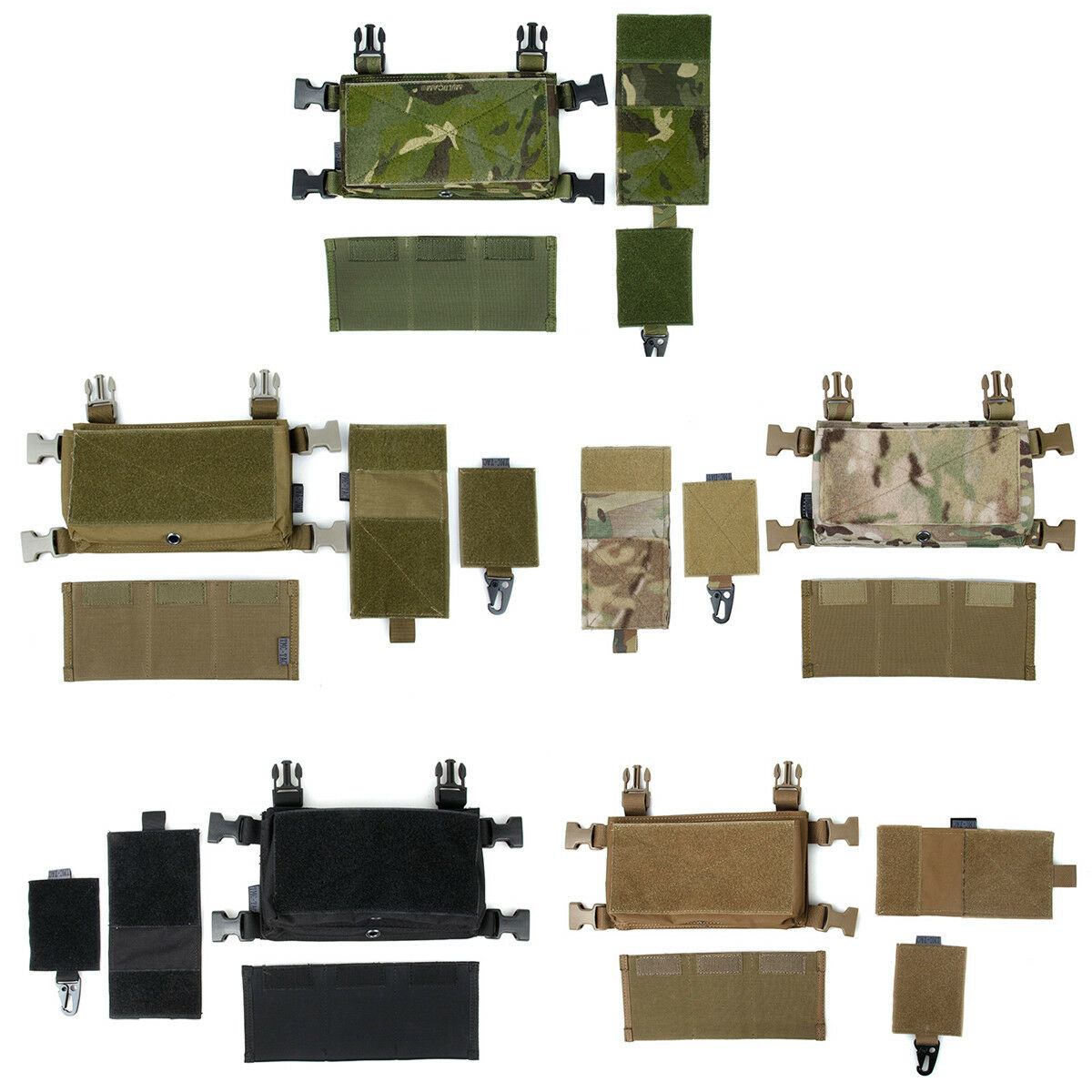 TMC Hunting MCR Front Set for Tactical Vest Chest Rig BK KK MTP MC CB MCBK