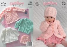 """DK//4ply 14-24/"""" 2961 Baby//Childs Cardigan /& Sweater King Cole Knitting Pattern"""