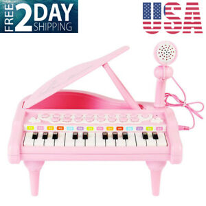 Details About Piano Keyboard Toy Kids1 2 3 4 5 Year Old Girls First Birthday Gift 24 Keys M