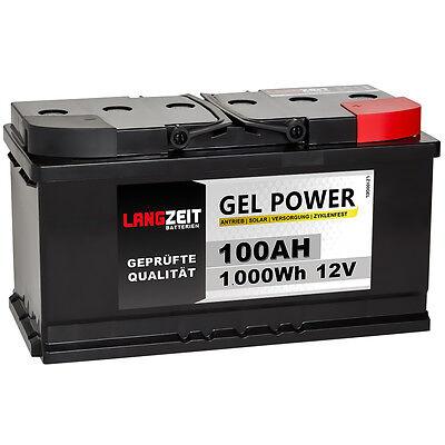 2x Blei Gel 12V 24V 100AH Solar Batterie Wohnmobil Boot Versorgung Akku 200AH