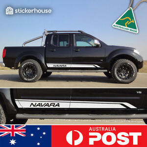 Nissan Navara D40 Side Stripe Decal Sticker Kit SUIT Dual Double Cab