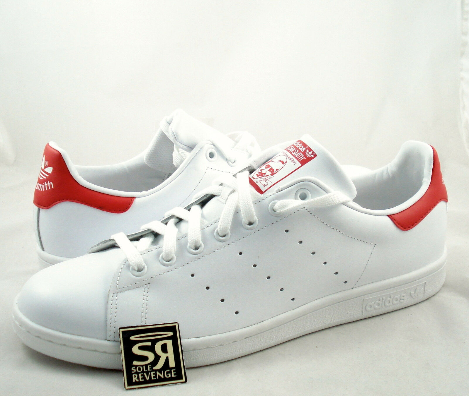 New adidas Originals Uomo Stan Smith Shoes Running White/Red M20326 Tennis