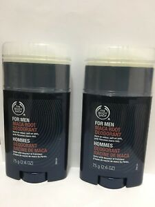 Lot-Of-2-The-Body-Shop-For-Men-Maca-Root-Deodorant-Stick-75g-x-2-150g-New