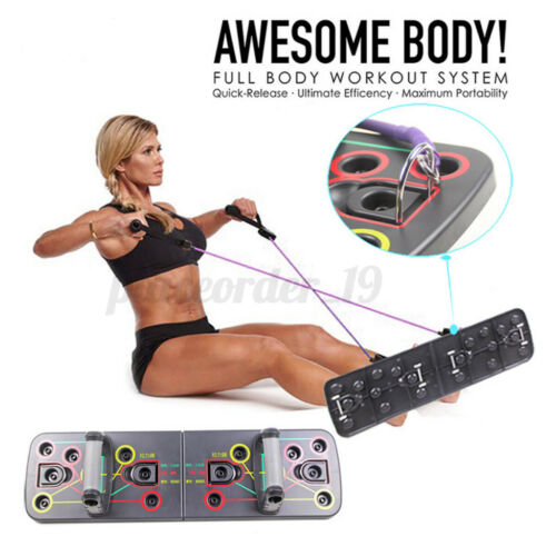 14 in 1 Push Up Rack Board Fitness Workout Training Chest Exercise Pushup Stand