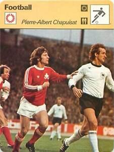 FICHE-CARD-Pierre-Albert-Chapuisat-Switzerland-Libero-Entraineur-FOOTBALL-1970s