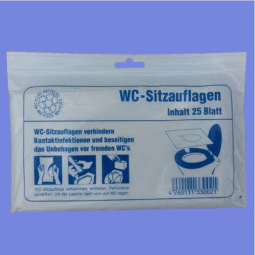 Toiletten Sitzauflagen 25 Stück WC Auflagen Papier Hygiene Brillenschutz