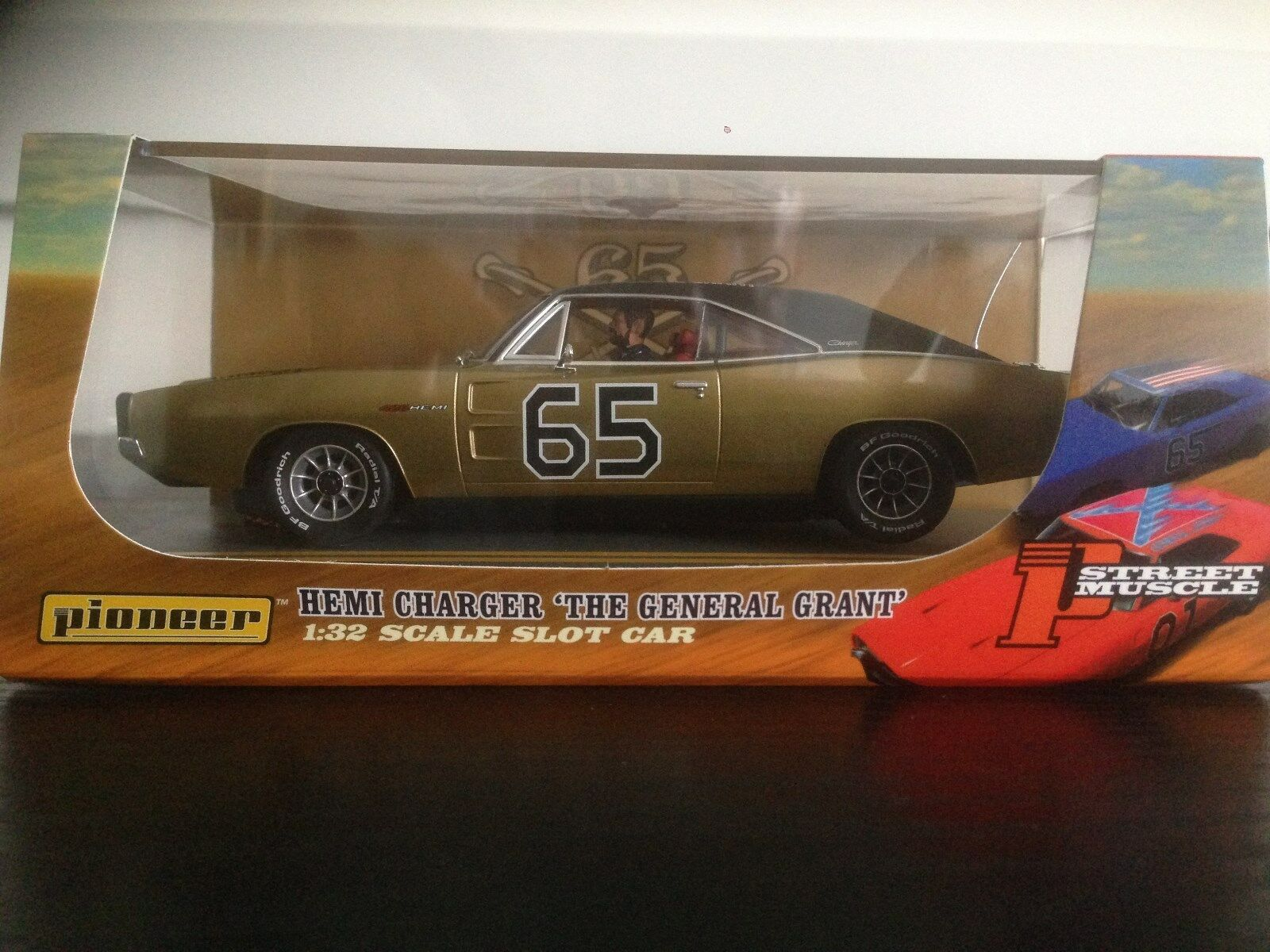 Pioneer Slot Car P098 General Grant Dodge Charger gold Limited Edition