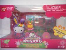 NEW Bandai Hello Kitty Garden Party Bunny Flower Wagon Toy