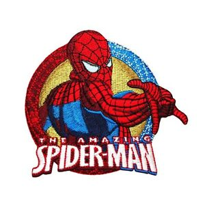 Marvel-Superhero-034-The-Amazing-Spider-Man-034-Patch-Teen-Hero-Kids-Iron-On-Applique