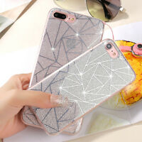 Bling Glitter Diamond Soft TPU Phone Back Case Cover For iPhone 7/7Plus
