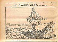 Humour Guerre des Balkans Soldat Evzones Grèce Greece Dessin Hautot WWI 1916